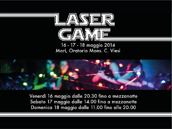 Volantino Laser Game IT
